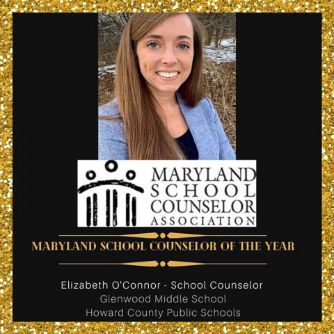 Liz O'Connor, Maryland School Counselor of the Year.